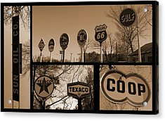 Oil Sign Retirement Acrylic Print