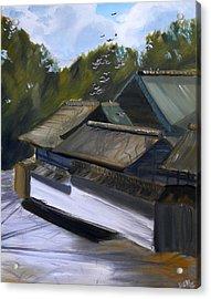 Okazaki Castle Acrylic Print by Janice Harvey