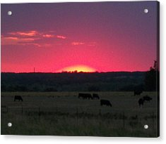Okie Sunset Acrylic Print by Adam Cornelison