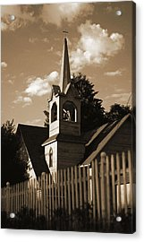 Ol' Church On The Hill Acrylic Print by Randall  Cogle