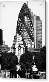 Old And New In London Acrylic Print by John Rizzuto