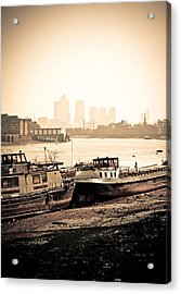 Acrylic Print featuring the photograph Old And New London Town by Lenny Carter