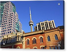 Old And New Toronto Acrylic Print by Elena Elisseeva