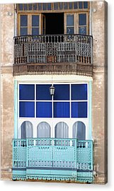 Old And New With Same View Acrylic Print by Darcy Michaelchuk