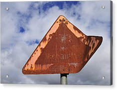 Old And Rusty Traffic Sign Acrylic Print by Matthias Hauser