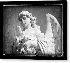 Acrylic Print featuring the photograph Old Angel by Jeanne  Woods