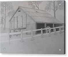 Old Austane Barn Acrylic Print by Brian Leverton