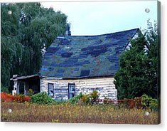 Acrylic Print featuring the photograph Old Barn by Davandra Cribbie