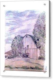 Old Barn Acrylic Print by De Beall