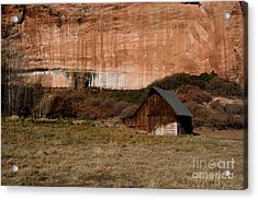 Acrylic Print featuring the photograph Old Barn In Angel Canyon #1  by Nola Lee Kelsey