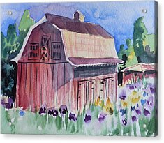 Old Barn In Payson Acrylic Print