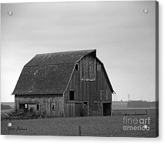 Acrylic Print featuring the photograph Old Barn In Winter by Yumi Johnson