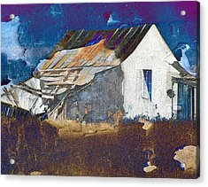 Acrylic Print featuring the digital art Old Village by Irina Hays