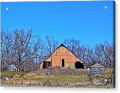 Old Barn Acrylic Print by Julio n Brenda JnB