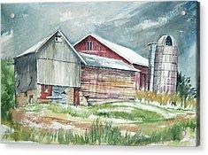 Old Barn Acrylic Print by Rose McIlrath