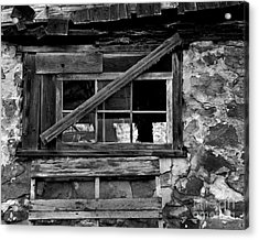 Old Barn Window Acrylic Print by Perry Webster