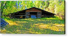 Old Barn With Wings Acrylic Print by Lenore Senior and Dawn Senior-Trask