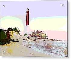 Old Barney Lighthouse Acrylic Print by Charles Shoup