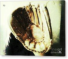 Old Baseball Glove Acrylic Print by Ruby Hummersmith