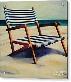 Old Beach Chair Acrylic Print by Mary Naylor