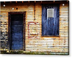 Old Blue Doors Acrylic Print