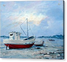 Old Boats On Shore Acrylic Print by Gary Partin