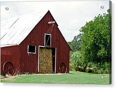 Old Bonham Barn II Acrylic Print by Lisa Moore