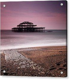 Old Brighton Pier Acrylic Print