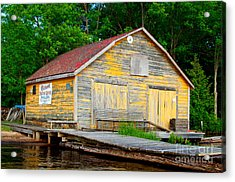Acrylic Print featuring the photograph Old Cabin by Les Palenik