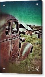 Old Car And Ghost Town Acrylic Print by Jill Battaglia