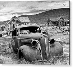 Old Car Bodie Acrylic Print by Joe  Palermo