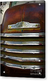 Old Chevrolet Front Grille Acrylic Print by ELITE IMAGE photography By Chad McDermott