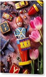 Old Childrens Toys Acrylic Print by Garry Gay