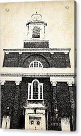 Old Church In Boston Acrylic Print by Elena Elisseeva