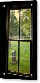 Old Church Window Acrylic Print by James Massey