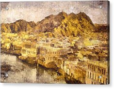 Old City Of Muscat Acrylic Print