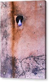 Old City Wall With Grunge Paint Texture Acrylic Print