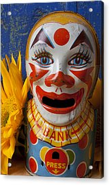 Old Clown Bank Acrylic Print by Garry Gay