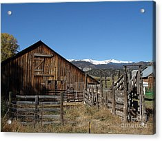Old Colorado Barn Acrylic Print by Donna Parlow