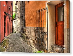 Old Colorful Rustic Alley Acrylic Print