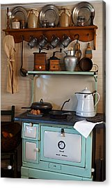 Old Cook Stove Acrylic Print by Carmen Del Valle