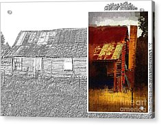 Old Cottage Diptych 1 Acrylic Print