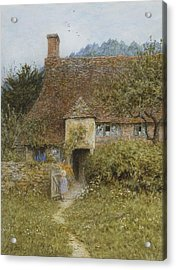 Old Cottage Witley Acrylic Print by Helen Allingham