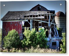 Old Country Barn Acrylic Print by Michael Wilcox