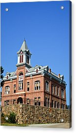Old Courthouse Powhatan Arkansas 1 Acrylic Print by Douglas Barnett