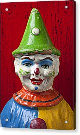 Old Cown Face Acrylic Print by Garry Gay