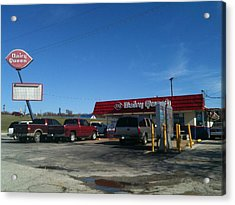 Old Dairy Queen In Azle Texas Acrylic Print by Shawn Hughes