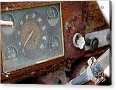 Old Dashboard Acrylic Print by Pauline Ross