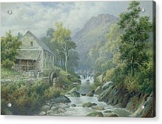 Old Disused Mill Dolgelly Acrylic Print by William Henry Mander