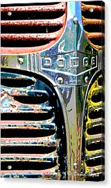 Old Dodge Grill Acrylic Print